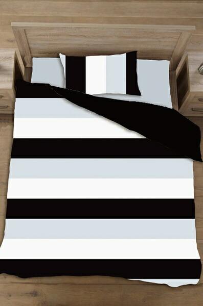 生毛工房UMOKOBO【まくらカバー】ボーダーブロード標準サイズ(綿100%/45×90cm/ブラック)【日本製】