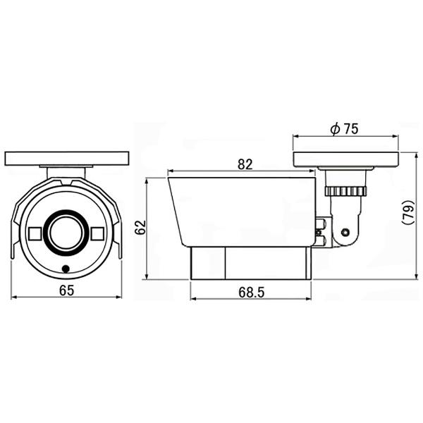 マザーツールMotherToolアナログ対応カラー監視カメラ【赤外線対応・防水タイプ】MTW-S38AHD