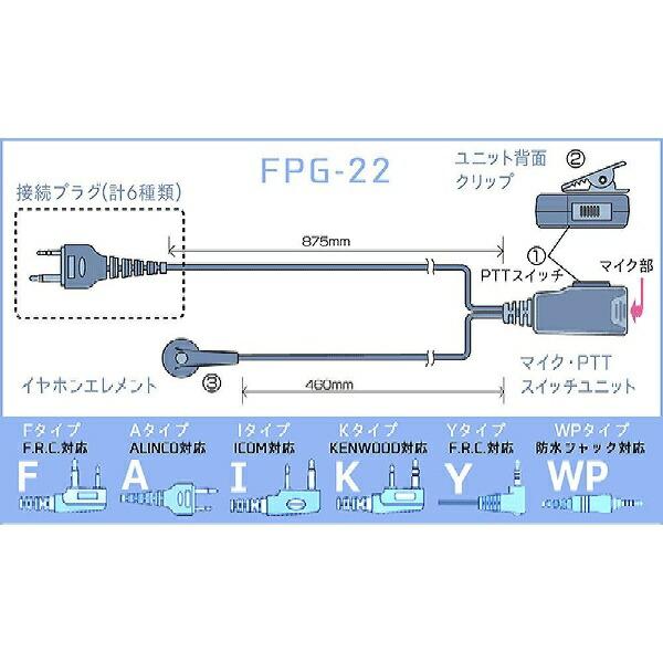 FRCエフ・アール・シーイヤホンマイクPROシリーズスタンダードタイプFIRSTCOM対応FPG-22FFIRSTCOMFPG-22F
