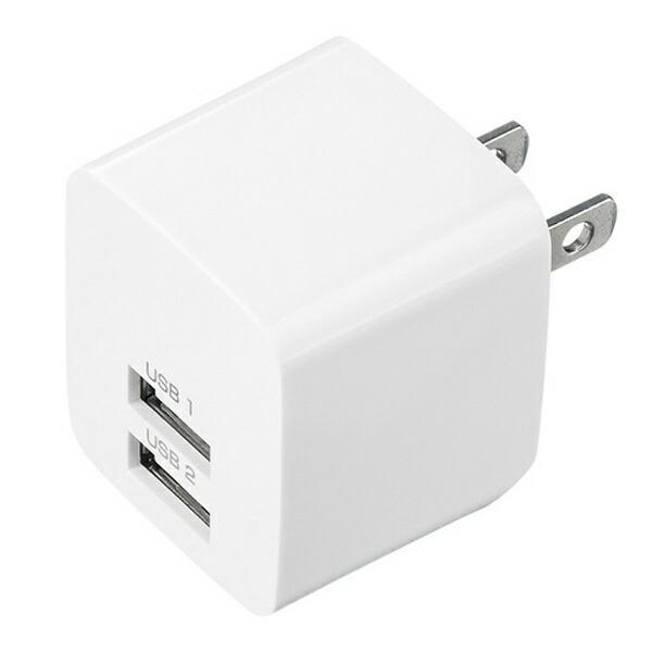 サンワサプライSANWASUPPLYスマホ用USB充電コンセントアダプタ2.4A(2ポート)ACA-IP44Wホワイト