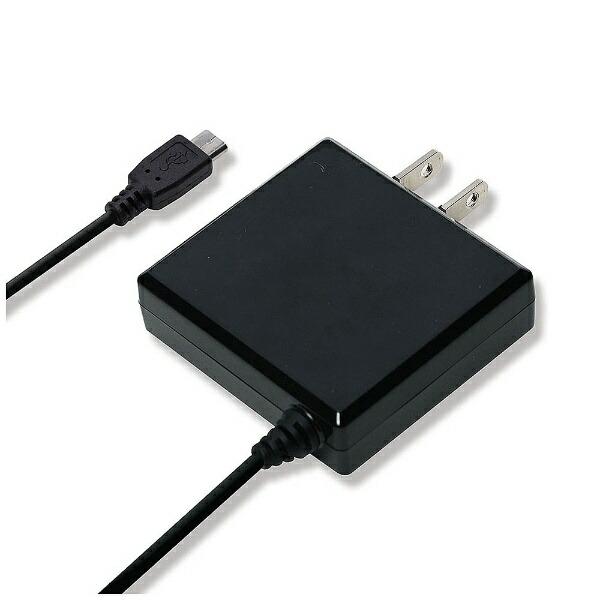 PGA[microUSB]ケーブル一体型AC充電器2Aブラック