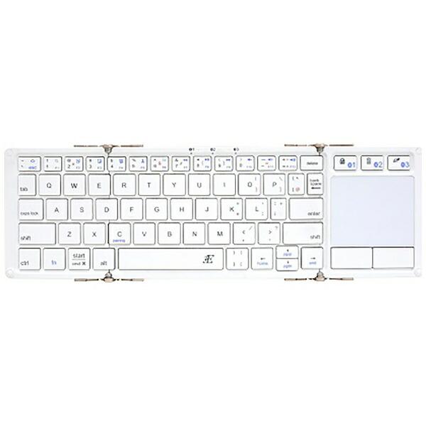 3Eスリーイー3E-BKY5-WHキーボード[Android/iOS/Win]Touch+(タッチプラス)ホワイト[Bluetooth/ワイヤレス][3EBKY5WH]