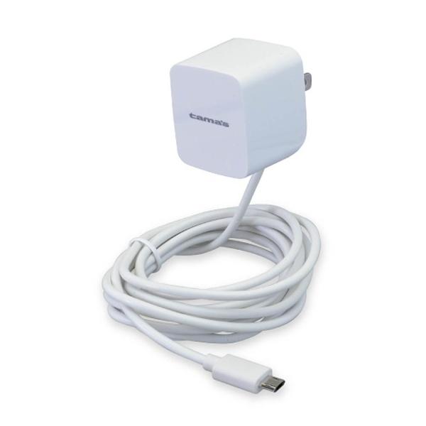 多摩電子工業TamaElectric[microUSB]ケーブル一体型AC充電器2.4A(2m・ホワイト)TA54SRW