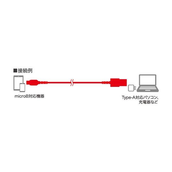 BUFFALOバッファロー[microUSB]USBケーブル充電・転送2.4A(0.1m・ブラック)BSMPCMB201BK[0.1m]