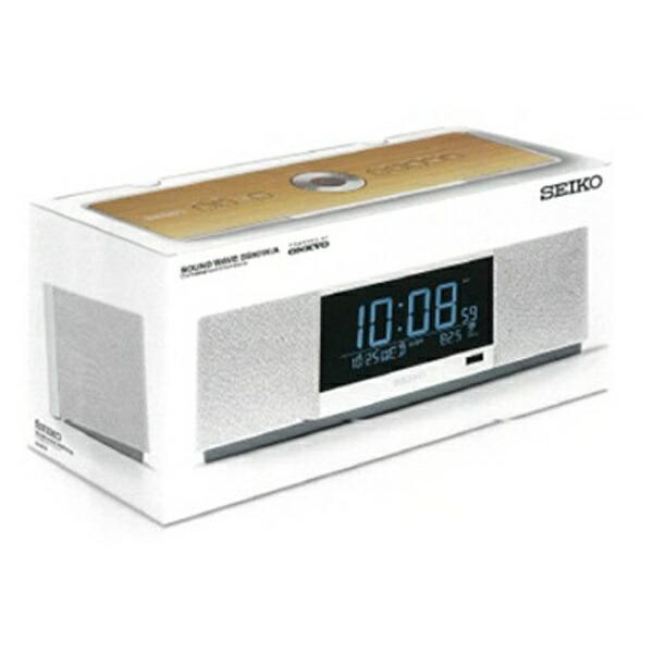 セイコーSEIKO置き時計マルチサウンドクロック白SS501A[おしゃれシンプルデザインスピーカーSS501A]