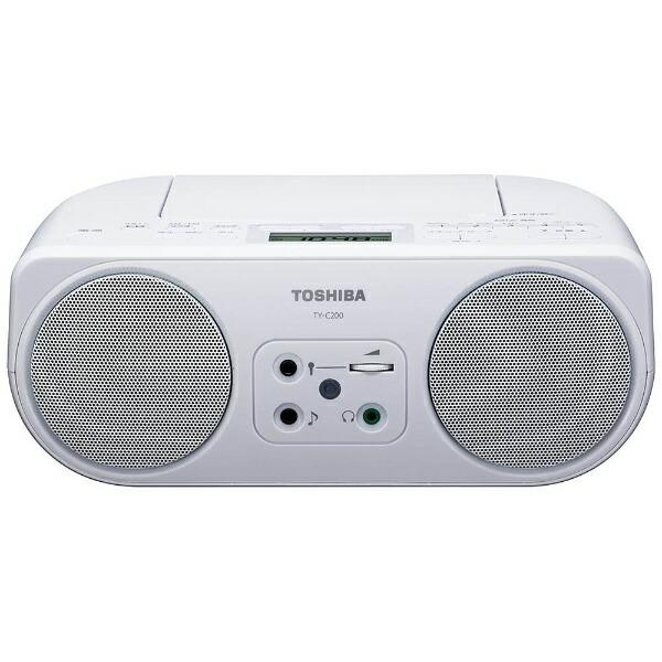 東芝TOSHIBATY-C200CDラジオホワイト[ワイドFM対応][TYC200W]