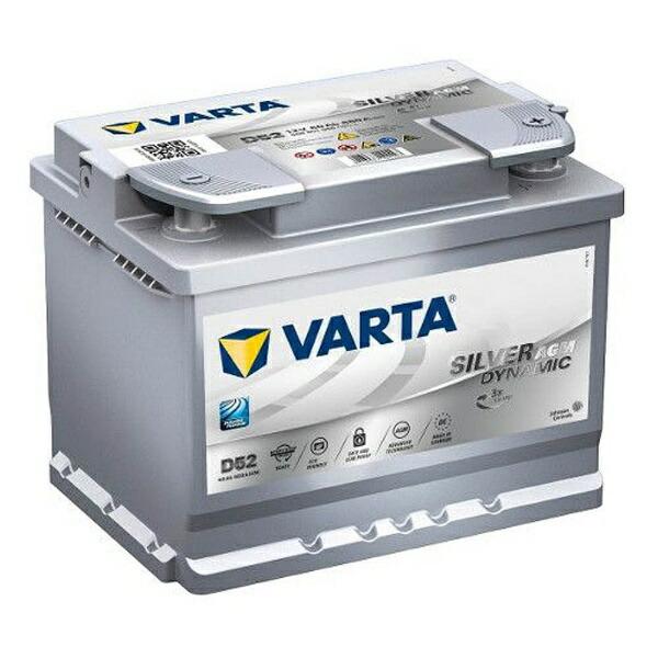 VARTA欧州車用AGMバッテリー560901068silverdynamicAGM【メーカー直送・代金引換不可・時間指定・返品不可】