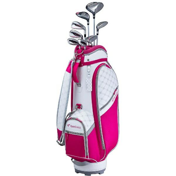ブリヂストンBRIDGESTONEレディースゴルフクラブTOURSTAGECL8本セット《専用カーボンシャフト+ヘッドカバー・キャディバッグ(ピンク)付》