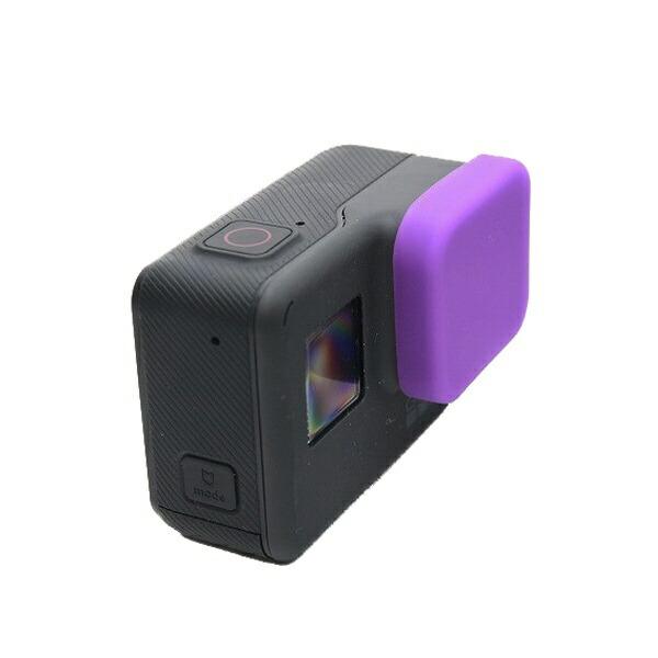 GLIDERグライダーHERO5用シリコンレンズカバー紫GLD7890GO210