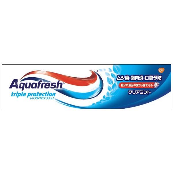 アース製薬Earthアクアフレッシュ(Aquafresh)歯磨き粉クリアミント35g【wtcool】