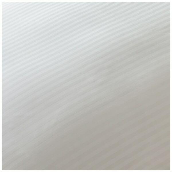 生毛工房【ボックスシーツ】サテンストライプダブルサイズ(綿100%/140×200×30cm/ホワイト)【日本製】