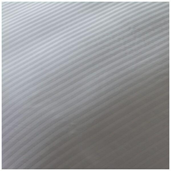 生毛工房UMOKOBO【ボックスシーツ】サテンストライプセミダブルサイズ(綿100%/120×200×30cm/グレー)