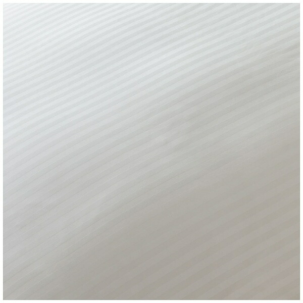 生毛工房【ボックスシーツ】サテンストライプセミダブルサイズ(綿100%/120×200×30cm/ホワイト)【日本製】