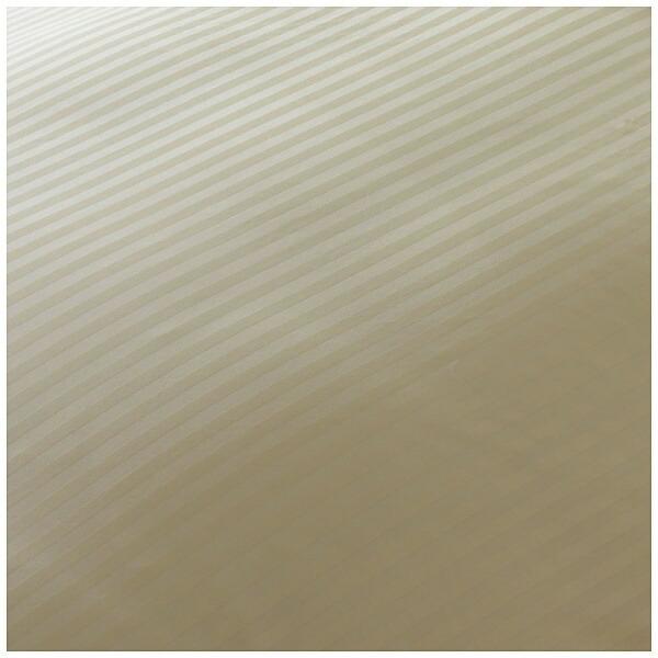 生毛工房UMOKOBO【ボックスシーツ】サテンストライプシングルサイズ(綿100%/100×200×30cm/ベージュ)