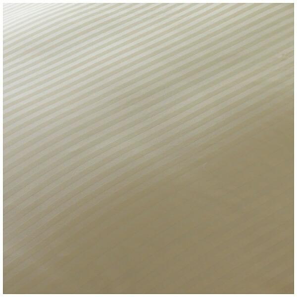 生毛工房UMOKOBO【敷ふとんカバー】サテンストライプダブルサイズ(綿100%/145×215cm/ベージュ)