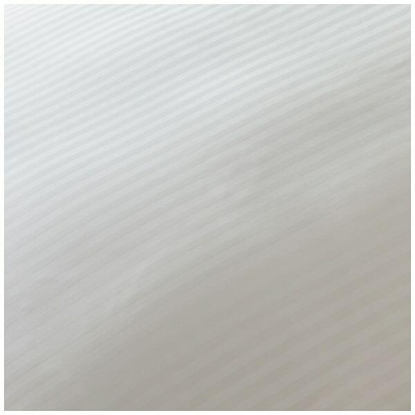 生毛工房UMOKOBO【敷ふとんカバー】サテンストライプダブルサイズ(綿100%/145×215cm/ホワイト)