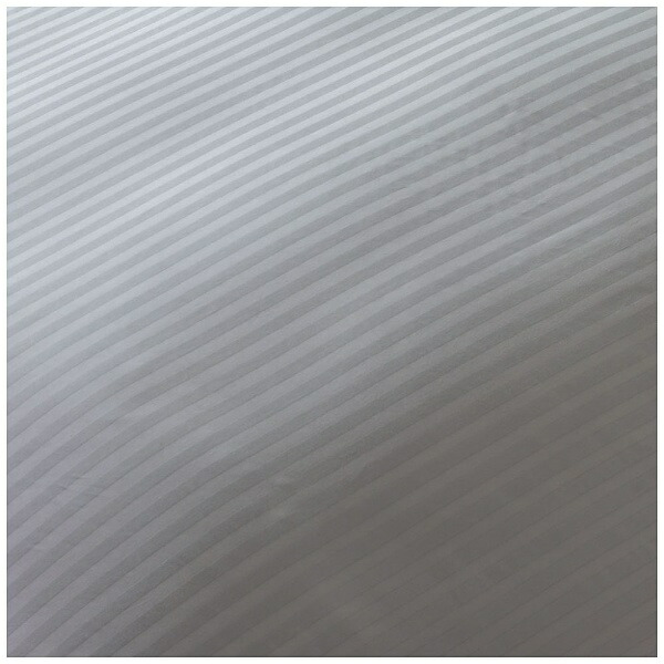 生毛工房UMOKOBO【敷ふとんカバー】サテンストライプシングルサイズ(綿100%/105×215cm/グレー)