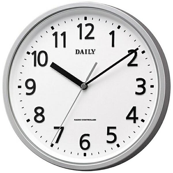 リズム時計RHYTHM掛け時計【デイリーMY34】銀4MYA34DN19[電波自動受信機能有]