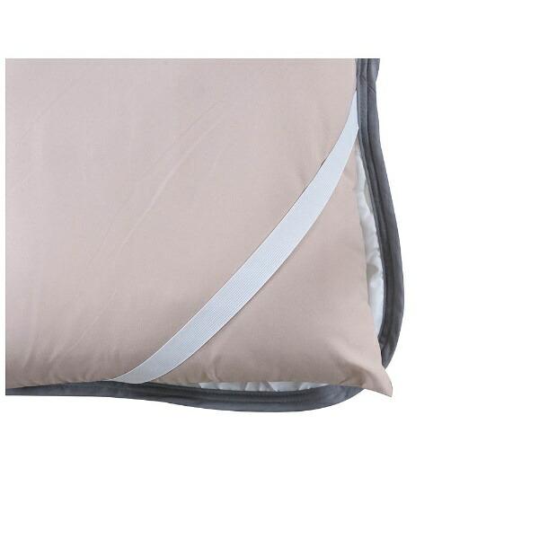 東谷AZUMAYA【涼感パッド】ソフトクールベッドパッドシングルサイズ(100×200cm/グレー)GLS-395LBL
