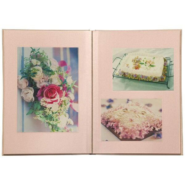 ナカバヤシNakabayashi箔押しビニールクロス表紙アルバム100年台紙ブック式B5(ピンク)ア-H-B5B182-P[アHB5B182P]
