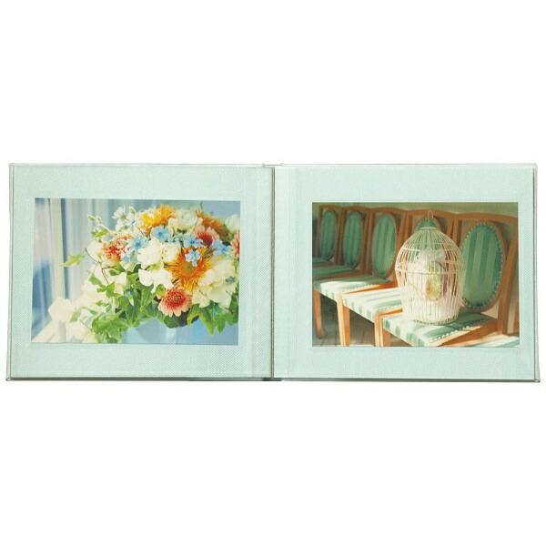 ナカバヤシNakabayashi箔押しビニールクロス表紙アルバム100年台紙ブック式ミニ(ブルー)ア-H-MB122-B[アHMB122B]