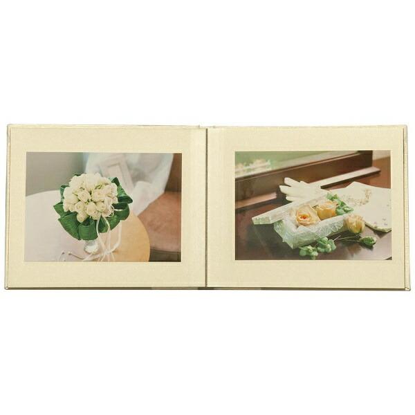 ナカバヤシNakabayashi箔押しビニールクロス表紙アルバム100年台紙ブック式ミニ(ホワイト)ア-H-MB123-W[アHMB123W]