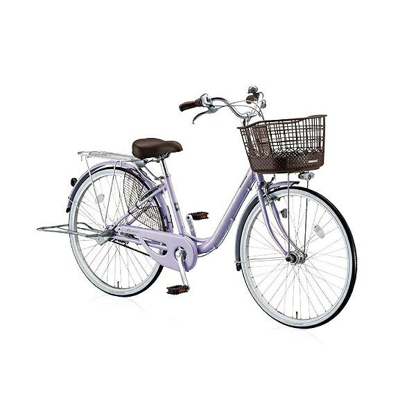 ブリヂストンBRIDGESTONE26型自転車アルミーユベルト(P.Xオパールラベンダー/シングル)AU60BT【2017年/点灯虫・ベルトドライブモデル】【組立商品につき返品不可】【代金引換配送不可】
