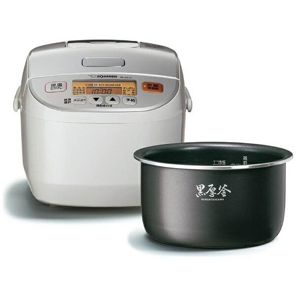 象印マホービンZOJIRUSHINL-DS10-WA炊飯器極め炊きホワイト[5.5合/マイコン][NLDS10]