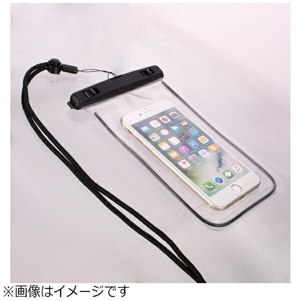 OWLTECHオウルテックスマートフォン用[幅81mm/5.5インチ]防水ケースIPX8規格ブラックOWL-WPCSP11-BK