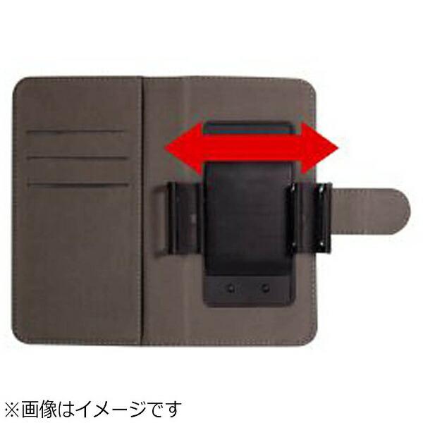 OWLTECHオウルテックスマートフォン用[幅73mm/5.2インチ]PUレザースライド式手帳型マルチケースホワイトOWL-CVMUM08-WH