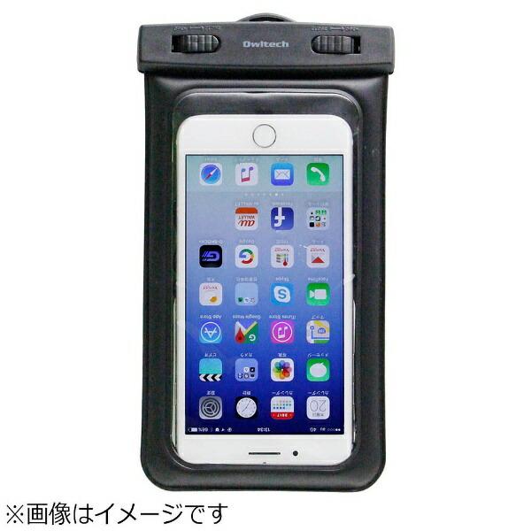 OWLTECHオウルテックスマートフォン用[幅81mm/5.5インチ]防塵防水ケースIP68規格ブラックOWL-WPCSP10-BK
