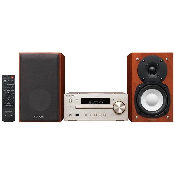 ケンウッドKENWOOD【ハイレゾ音源対応】Bluetooth対応ミニコンポ(ゴールド)K-515-N【ワイドFM対応】[ワイドFM対応/Bluetooth対応/ハイレゾ対応][CDコンポ高音質K515N]