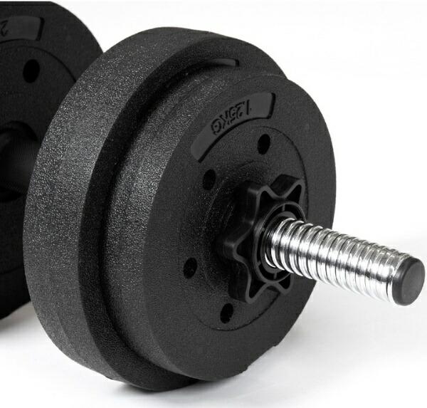 La-VIEラ・ヴィダンベル【重量可変式】メガダンベルセット(7.5kg×2/ブラック×シルバー)3B-3496