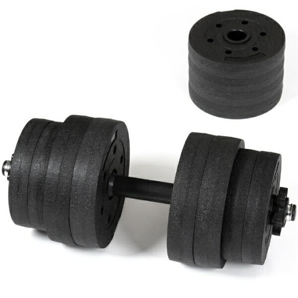 La-VIEラ・ヴィメガダンベルセット10kg×2個(ブラック×シルバー)3B-3497