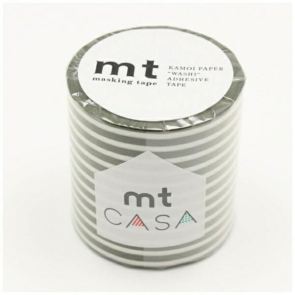 カモ井加工紙KAMOImtCASA50mm(ボーダー・オリーブ)MTCA5110