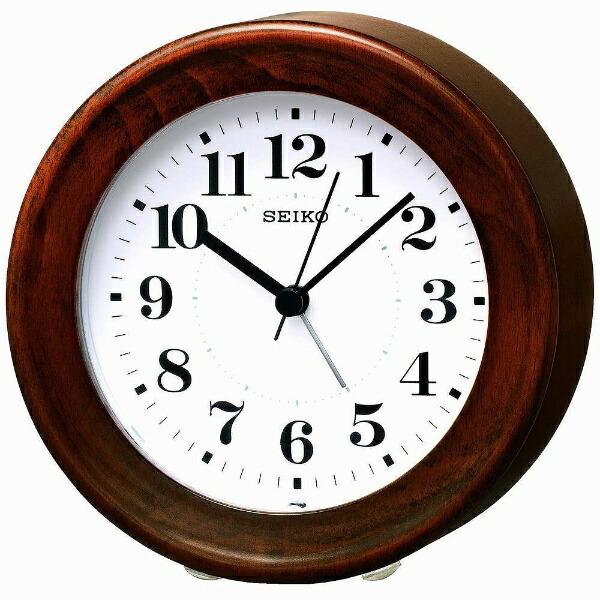 セイコーSEIKO目覚まし時計ナチュラルスタイル茶木地KR899B[アナログ][KR899B]