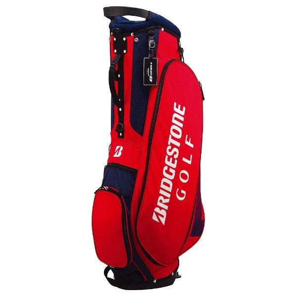 ブリヂストンBRIDGESTONEキャディバッグTOURB軽量スタンドバッグ(9.0型/赤×青)CBG717【オウンネーム非対応】