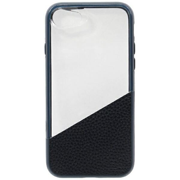 OWLTECHオウルテックiPhone7用耐衝撃本革+PC+TPUハイブリッドケースネイビーOWL-CVIP724-CNV