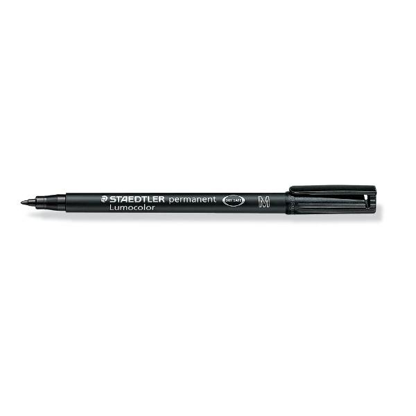 ステッドラーSTAEDTLER[油性マーカー]ルモカラーペン細書きM(線幅0.8〜1.0mm)ブラック317-9