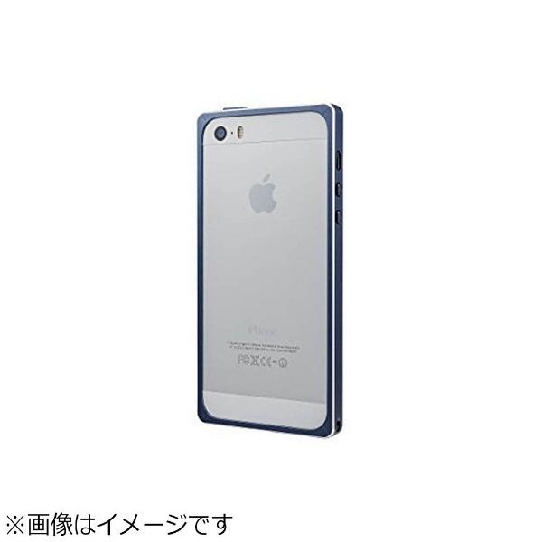 坂本ラヂヲiPhoneSE(第1世代)4インチ/5s/5用GRAMASStraightMetalBumperネイビーGMB506NV
