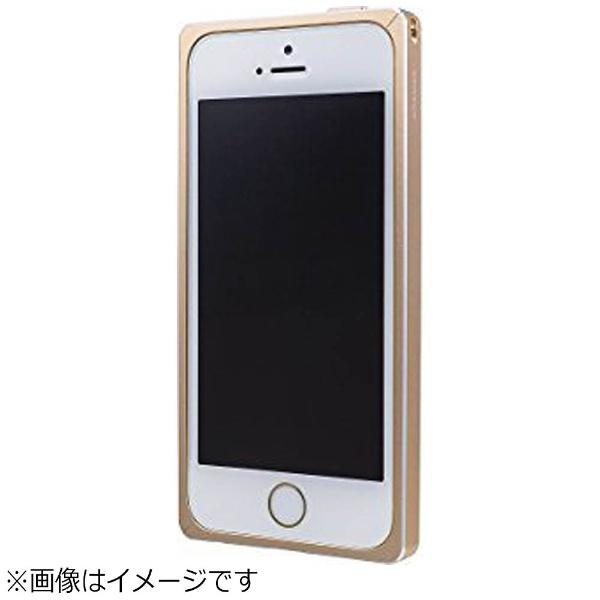 坂本ラヂヲiPhoneSE(第1世代)4インチ/5s/5用GRAMASStraightMetalBumperゴールドGMB506GL