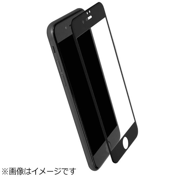 OWLTECHオウルテックiPhone7Plus用全面保護液晶保護強化ガラスアンチグレアタイプPET素材フレーム0.26mm厚ブラックOWL-TGPIP7PFS-BAG