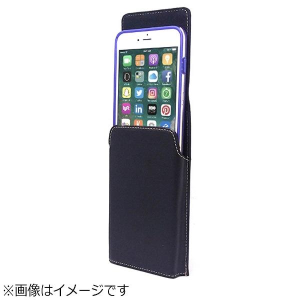 アスデックASDECiPhone8Plusカバー付スマホ収納ホルダー縦型ブラックSHIP13PV