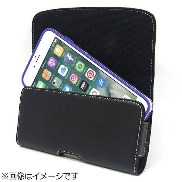 アスデックASDECiPhone8Plusカバー付スマホ収納ホルダーヨコ型ブラックSHIP13PH