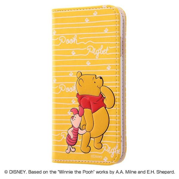 レイアウトrayoutiPhone8用ディズニー手帳型ケーススタンディングカーシヴくまのプーさんRT-DP14T/PO
