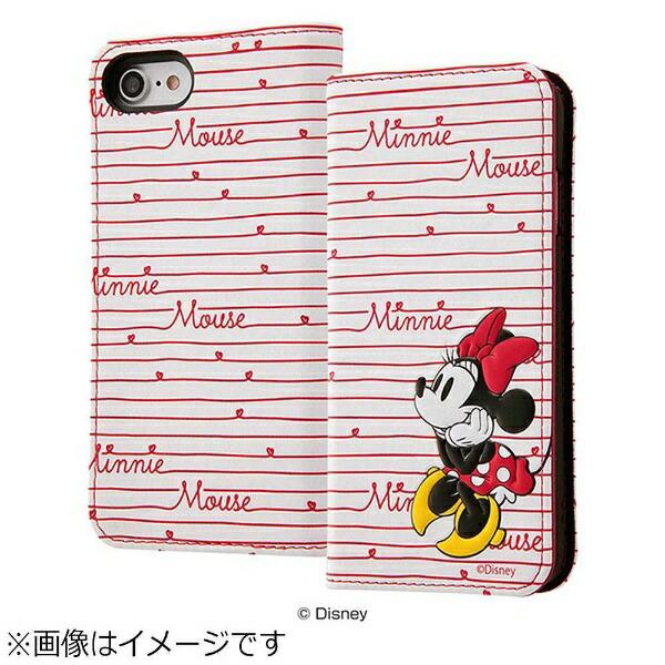 レイアウトrayoutiPhone8用ディズニー手帳型ケーススタンディングカーシヴミニーマウスRT-DP14T/MN