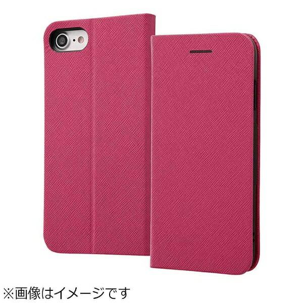 レイアウトrayoutiPhone8用手帳型ケースマグネットタイプピンクRT-P14SLC3/JP