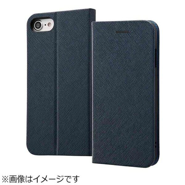 レイアウトrayoutiPhone8用手帳型ケースマグネットタイプネイビーRT-P14SLC3/JN