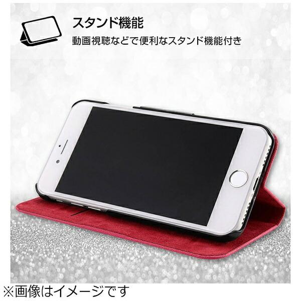 レイアウトrayoutiPhone8用手帳型ケースマグネットタイプブラックRT-P14SLC3/JB