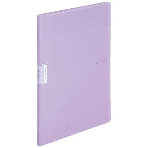 コクヨKOKUYOクリヤーブック「モッテ」(固定式)A4縦20枚ポケットラ-LM20V紫